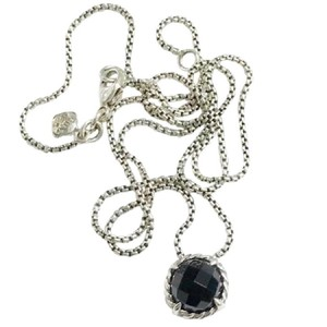David Yurman David Yurman Faceted Chatelaine Black Onyx Necklace