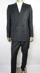 Bottega Veneta Black Men Wool/Silk Double Breast Suit It 54/Us 44 261816 Groomsman Gift