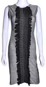 Lisa Nieves short dress silver - gray Pencil Stretch Cocktail on Tradesy