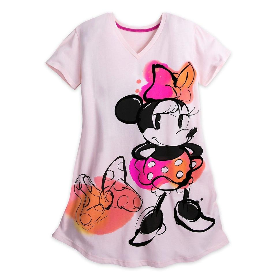 0b4f0fd99 Disney L Minnie Mouse Nightgown Nightshirt Women Pajamas M/L Tee Shirt