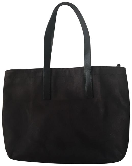 Item - Bag Canvas and Leather Black Tote