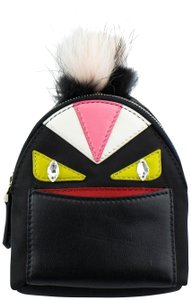 Fendi Monster Vinyl/Leather Bag Bugs Backpack Charm Keychain