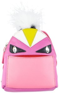 0b56f60607e0 Fendi Pink Monster Vinyl Leather Bag Bugs Backpack Charm Keychain ...