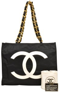 Chanel Nylon Tote Shoulder Bag
