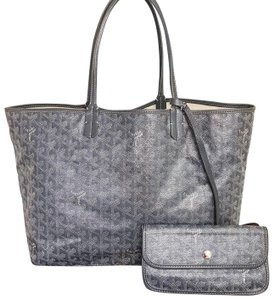 Goyard Canvas Leather Tote in Gray