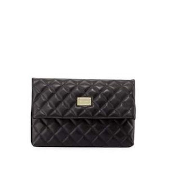 Item - Collection Quilted Black Leather Clutch