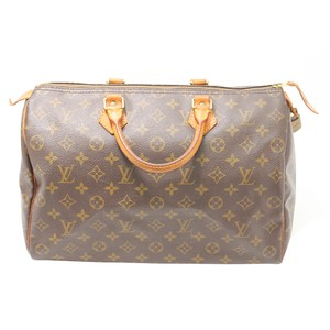 Louis Vuitton Speedy Monogram Hang Lv 35 Tote in brown