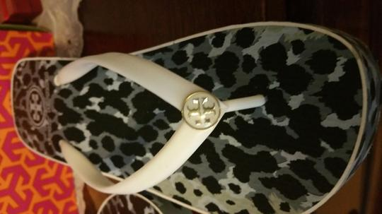 Tory Burch blue black and white Sandals