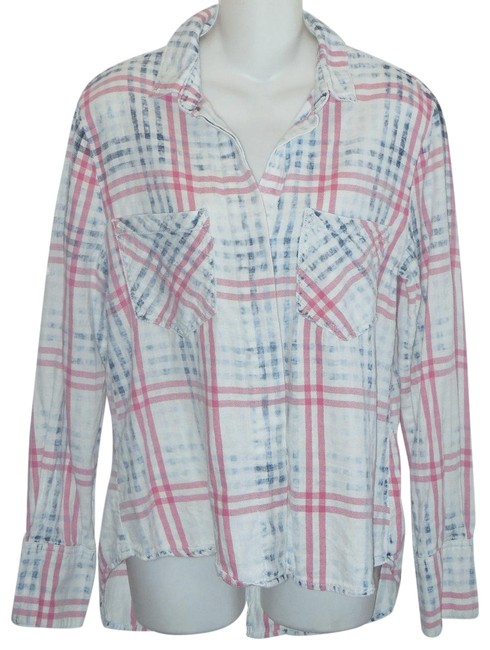 Item - Multicolor Cloth & Stone Button-down Top Size 6 (S)