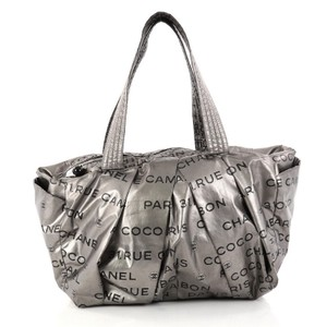 Chanel Nylon Satchel in Silver