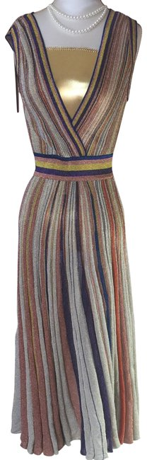 Item - Multi- Colored Party Mid-length Night Out Dress Size 6 (S)