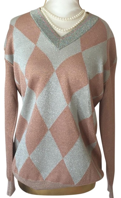 Item - Taupe and Silver Sweater