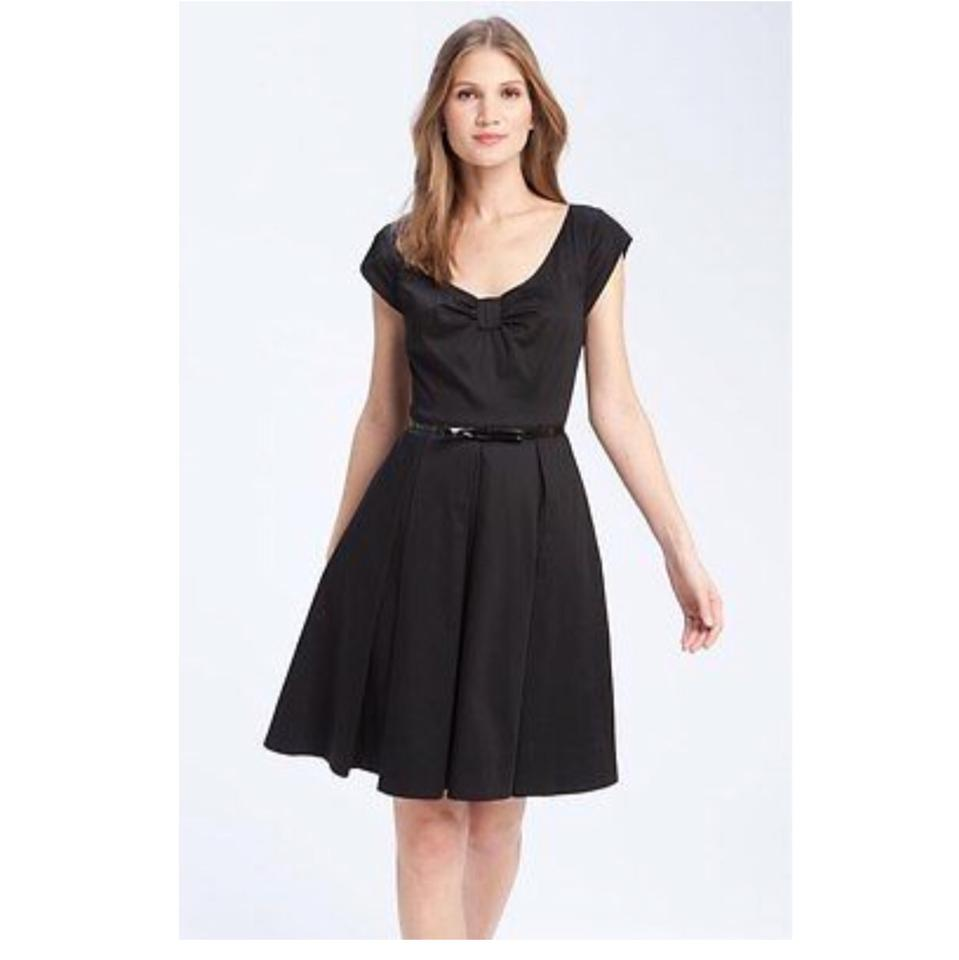 Kate Spade Black Sweeney Cotton Bow Front Short Cocktail Dress Size ...