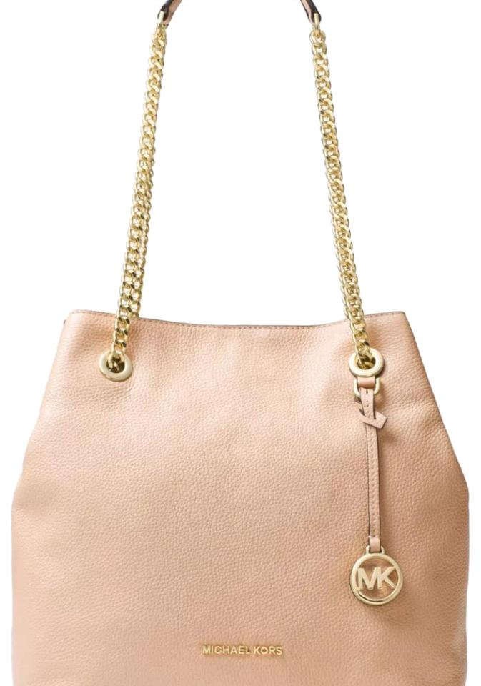 6fc00a25c Michael Kors Jet Set Chain Large Tote Oyster Pebble Leather Shoulder Bag  32% off retail