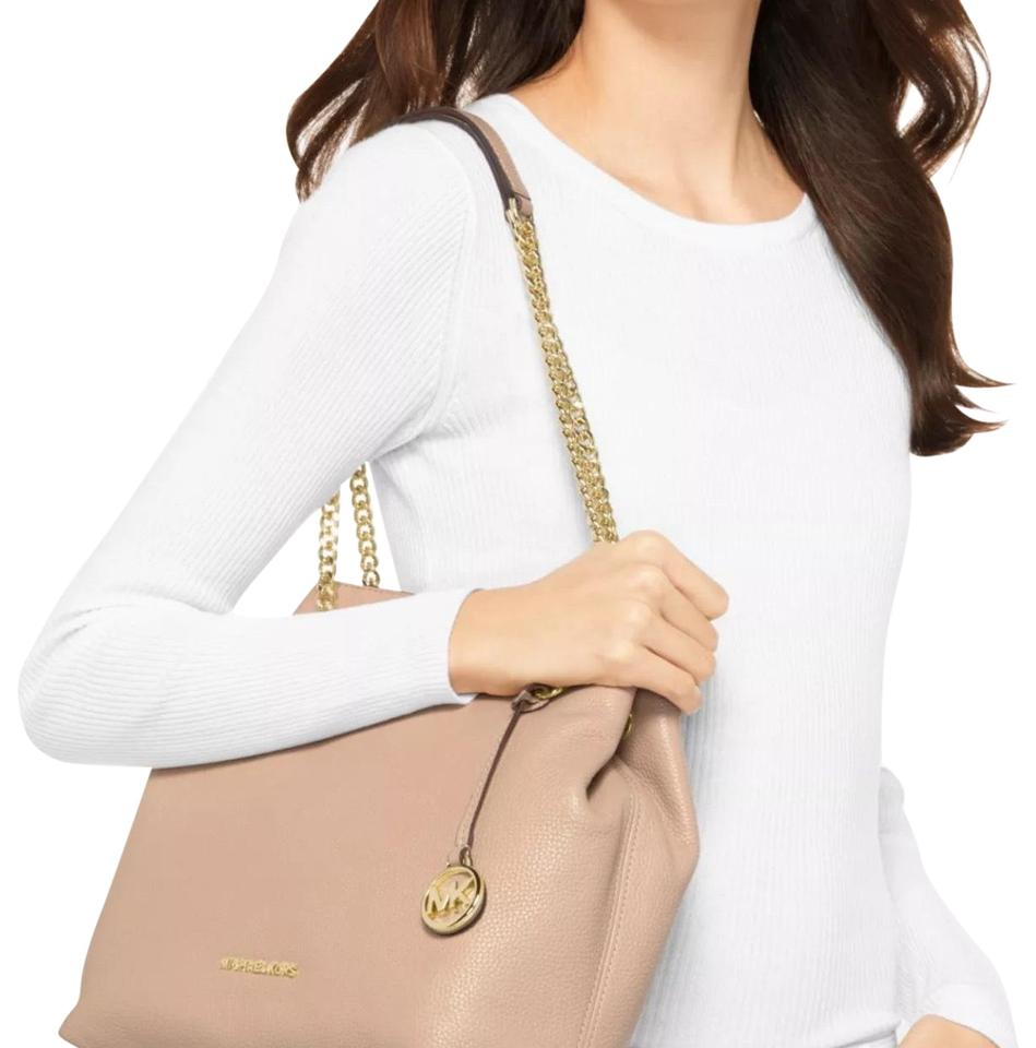 b234163b5 Michael Kors Jet Set Chain Large Tote Oyster Pebble Leather Shoulder Bag  42% off retail