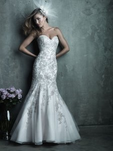 Allure Bridals Champagne English Net and Organza C283 Sexy Wedding Dress Size OS