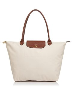 Longchamp Tote in Ivory/Gold