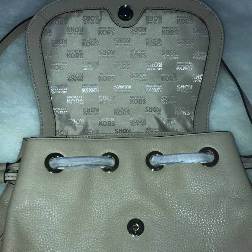 20d2c012adccb4 MICHAEL Michael Kors Bedford Zip Lg Leather Bisque Backpack - Tradesy
