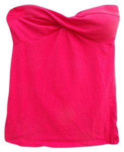 Charlotte Russe Strapless Twist Bust Top Red