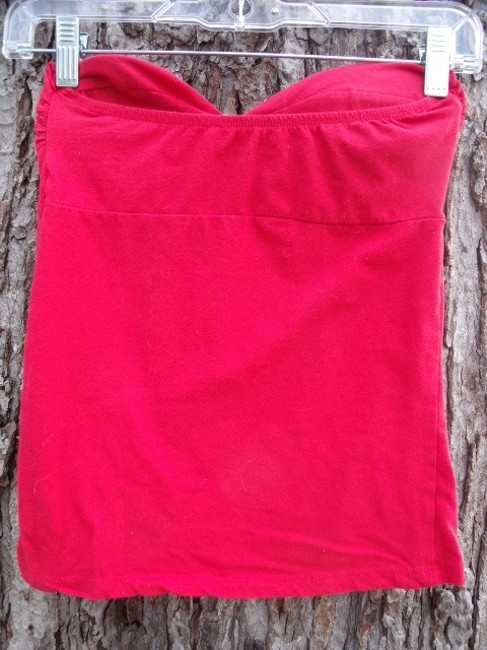Charlotte Russe Strapless Twist Bust Bombshell Top Red