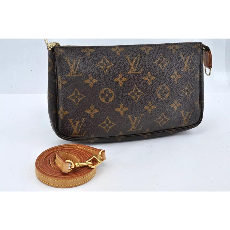 8761b3e365ff Louis Vuitton Pochette Accessoires With Long Strap Monogram Canvas ...