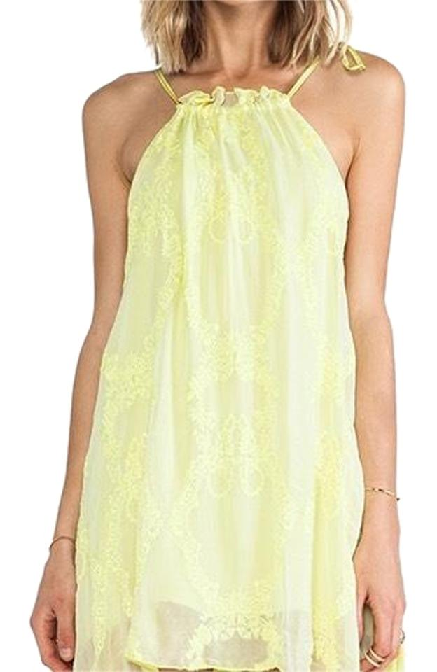 8f1eb67f1e For Love   Lemons Yellow You Madly Short Casual Dress Size 0 (XS ...