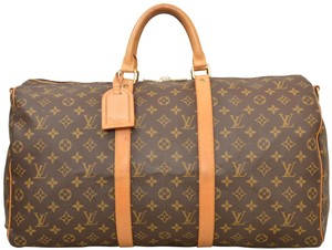 Louis Vuitton Duffle Gym Suitcase Carry On M41414 Brown Travel Bag