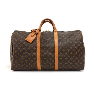 Louis Vuitton Monogram Canvas Duffle Brown Travel Bag
