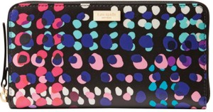 Kate Spade Kate Spade Black Laurel Way Dotty Plaid Neda wallet NWT