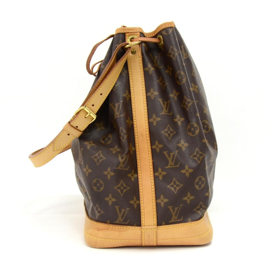 louis vuitton vintage noe large monogram brown canvas shoulder bag tradesy. Black Bedroom Furniture Sets. Home Design Ideas