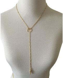 Luv AJ Pave Tusk Lariat and Open Crescent Ring set