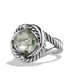 David Yurman David Yurman 11mm green prasiolite Infinity Ring