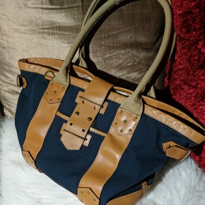 J.Crew Tote in Blue and Tan