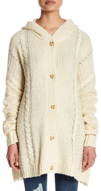 Item - Cream Cable Hooded Cardigan Size 4 (S)