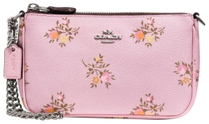 Coach Wristlet in Lily Cress stitch floral