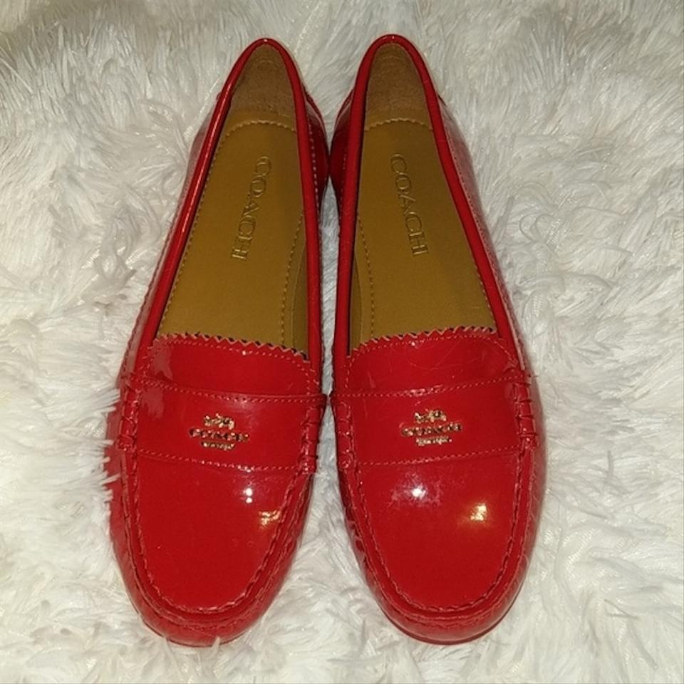 9dd44ff5deb Coach Red Odette Casual Loafers In Patent Leather Flats Size US 6 ...