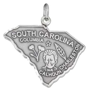 unknown Sterling Silver Antiqued South Carolina State Charm
