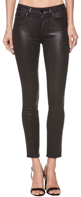 Item - Black Coated Hoxton Ankle - Fog Luxe Coating Skinny Jeans Size 25 (2, XS)