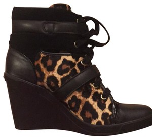 MICHAEL Michael Kors Sneakers Boots Leather Leopard Wedges