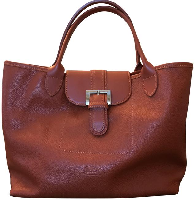 Item - Paris Cuir Rare Find Burnt Orange Leather Satchel