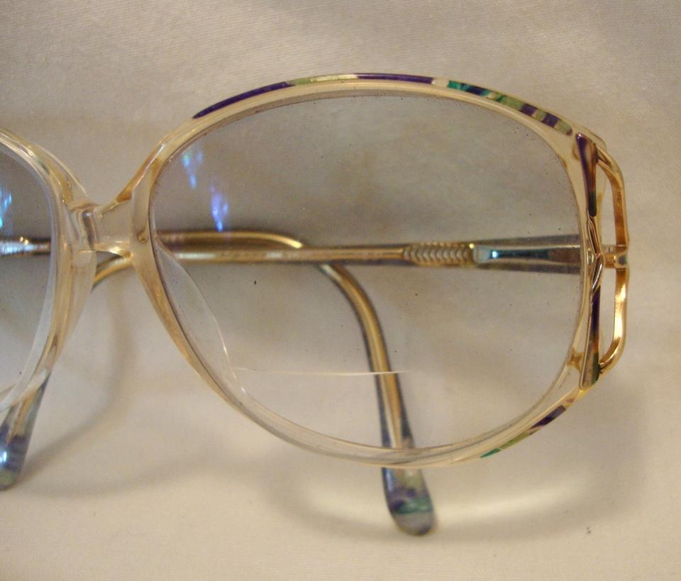 f3ca89c8012e Silver Dollar Vintage 80s Eye Glasses Huge Teal Peach Plastic Butterfly  Disco Style Image 6. 1234567
