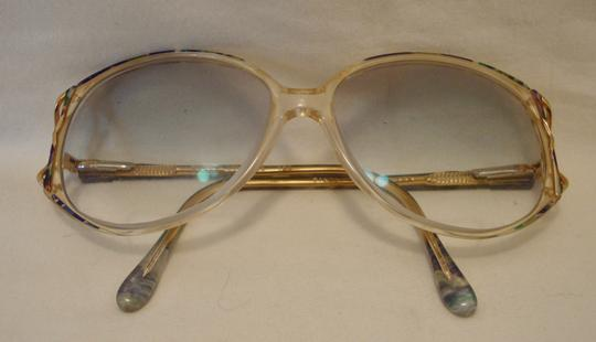 c3b7214e73c2 Silver Dollar Vintage 80s Eye Glasses Huge Teal Peach Plastic Butterfly  Disco Style Image 6