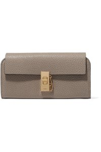 Chloé New With Tag Chloe Drew Textured Leather Continental Wallet Gray