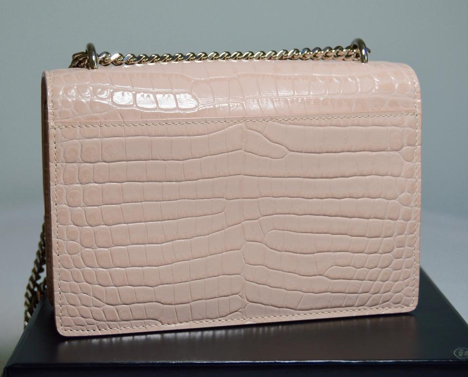 Saint Laurent Crocodile Monogram Shoulder Bag Image 11. 123456789101112 b5646749888dd