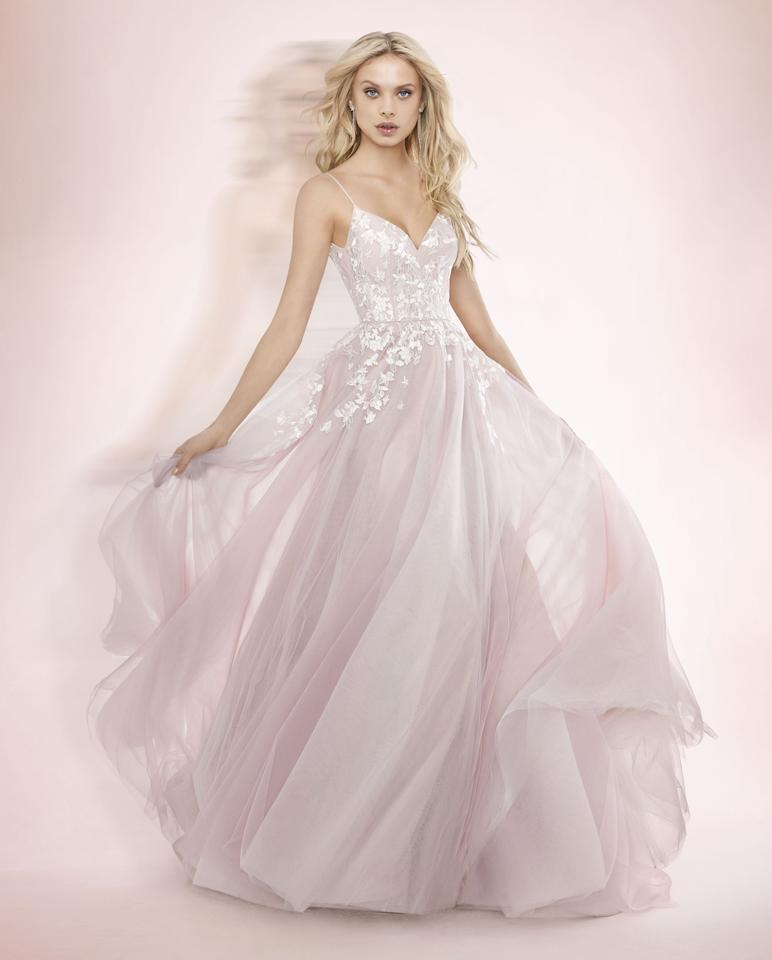 Blush by hayley paige pink tulle embroidery 1709 denver sexy wedding blush by hayley paige pink tulle embroidery 1709 denver sexy wedding dress size 10 m junglespirit Choice Image