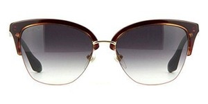Dita DITA Women Oval Sunglasses DVT200 D Red/Gold Frame Grey Gradient Lens