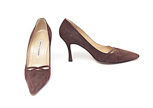 Manolo Blahnik Fashion Brown Pumps