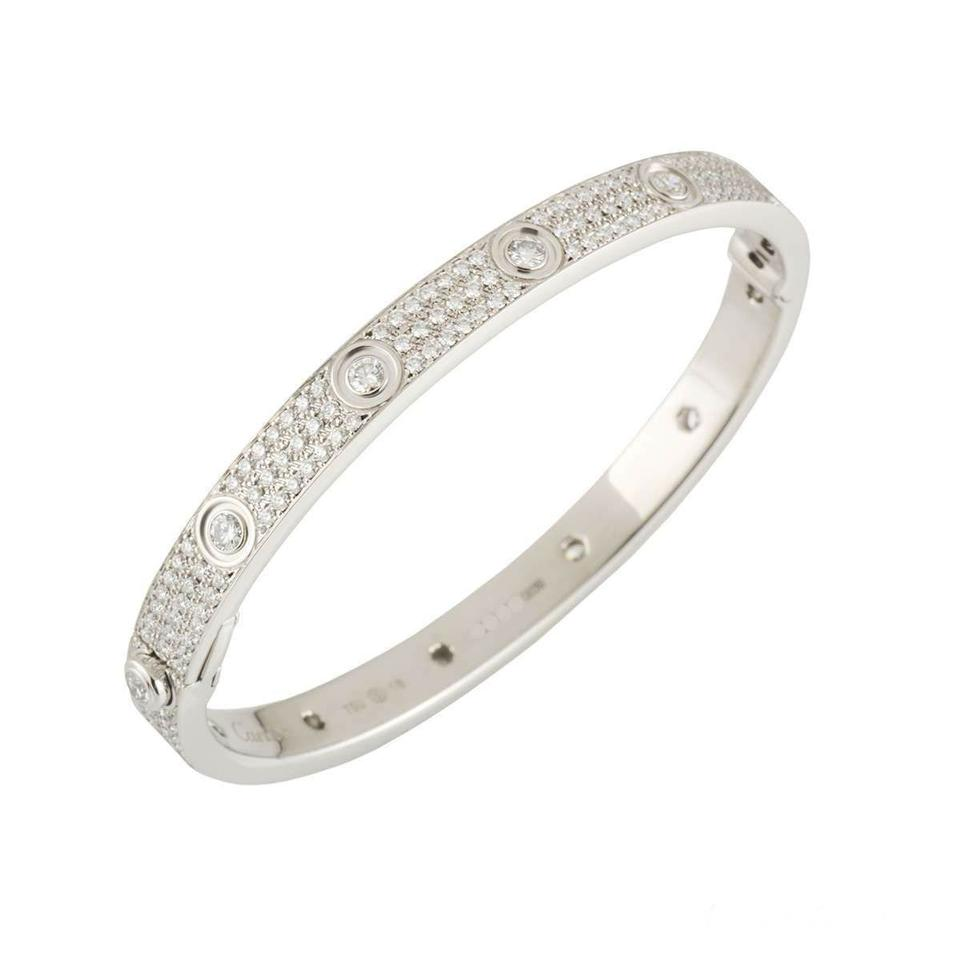 Cartier Love Bracelet Diamond Paved