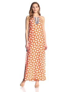 Orange, White Maxi Dress by Alice & Trixie