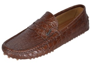 Gucci Men's Loafers Drivers Brown Flats